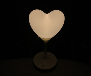 dark, heart, and lamp image