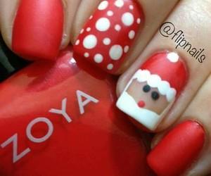 nails, xmas, and santa claus image