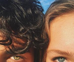 couple, eyes, and boy image