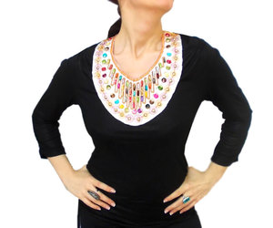 beaded necklace, lace necklace, and ethnic jewelry image