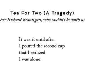 tragedy, tea, and alone image
