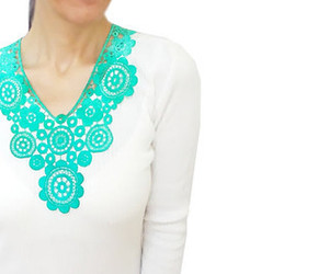 christmas, fashion, and green necklace image