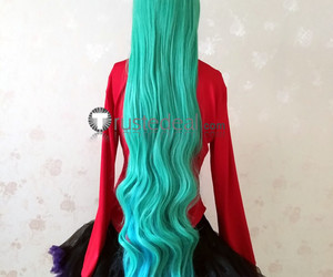 star guardian wigs, best soraka wig, and soraka green blue wig image