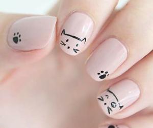 gato, uñas, and pink image