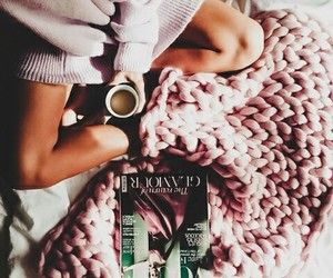 blankets, books, and christmas image