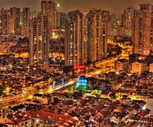 building, orange, and china image