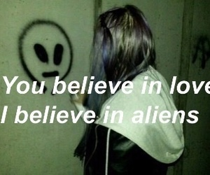 alien, love, and grunge image