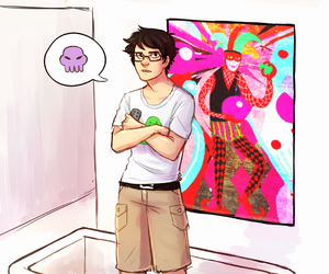 homestuck, rose lalonde, and john egbert image