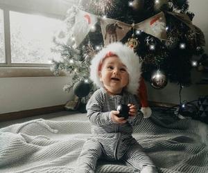 christmas, baby, and snow image