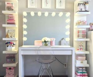 room, makeup, and design image