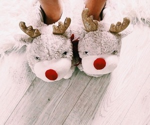 christmas, winter, and slippers image