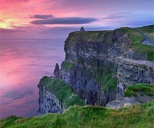 ireland, sunset, and nature image