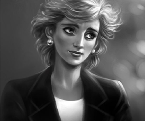 drawing and lady di image