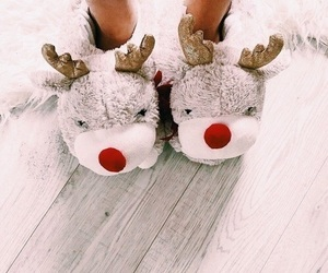 cold, cozy, and rudolph image