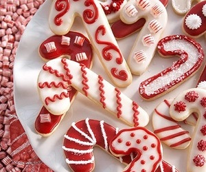 christmas, Cookies, and candy cane image