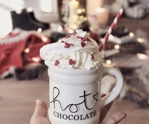 christmas, hot ​chocolate, and winter image