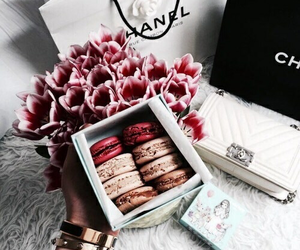 flowers, food, and chanel image