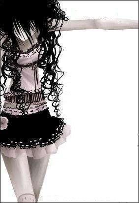 Anime girl with curly black hair