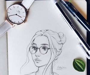 art, beautiful, and draw image