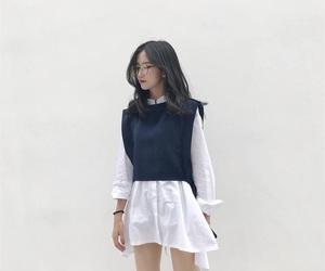 dress, fashion, and glasses image