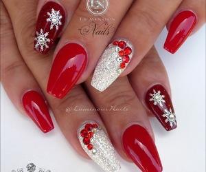 christmas, nails, and natal image