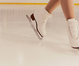 ice, ice skating, and skate image