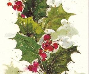 art, christmas, and mistletoe image
