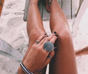 beach, bracelets, and nails image