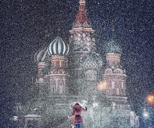 moscow, snow, and russia image