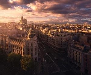 madrid, city, and sky image