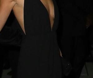 overknees, black dress, and lily alridge image
