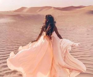 dress, girl, and desert image
