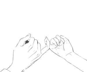 anime, couple, and hands image