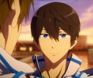 anime, haru, and free! image