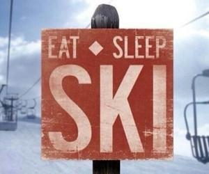 mountains, ski, and skier image