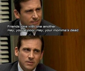 the office, funny, and friends image