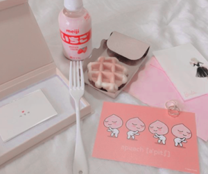 food, pink, and love image