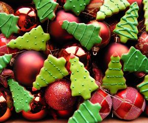 christmas, Cookies, and yummy image
