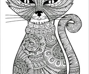 Animales, dibujo, and gato image
