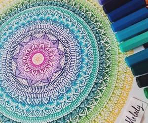 arte, colores, and mandala image