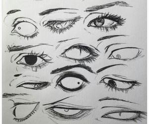 eyes and sketching image