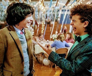 stranger things, finn wolfhard, and gaten matarazzo image