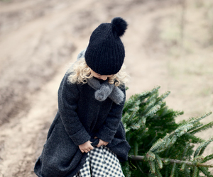 child, snow, and tree image