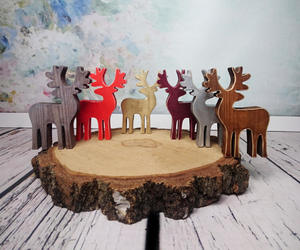 etsy, wooden ornament, and reindeer ornament image