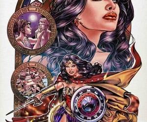 justice league, wonder woman, and vintage comic books image