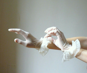 gloves, white, and fashion image
