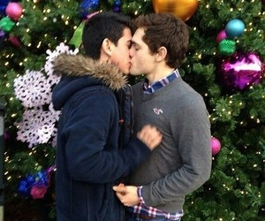 gay, kiss, and couple image