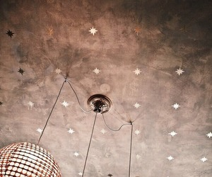 light, stars, and rose gold image