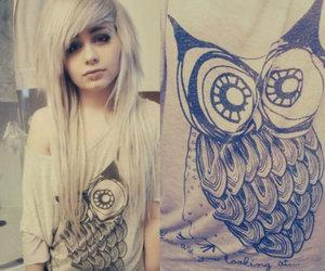 girl, owl, and beautiful image