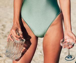 beach, skinny, and beauty image